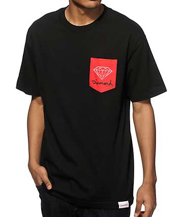 Diamond Supply Co OG Sign camiseta con bolsillo