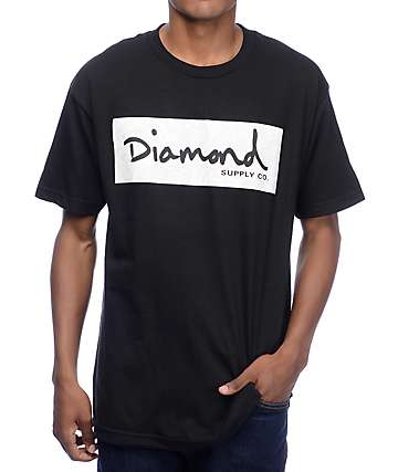Diamond Supply Co Radiant Box Logo camiseta negra