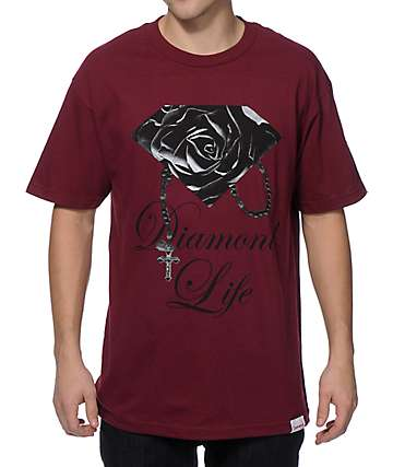 Diamond Supply Co Rose Brilliant T-Shirt