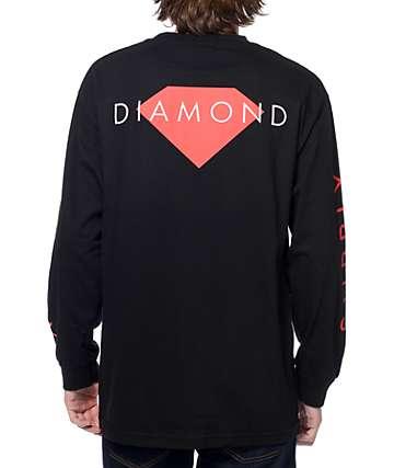 Diamond Supply Co Solid camiseta negra de manga larga