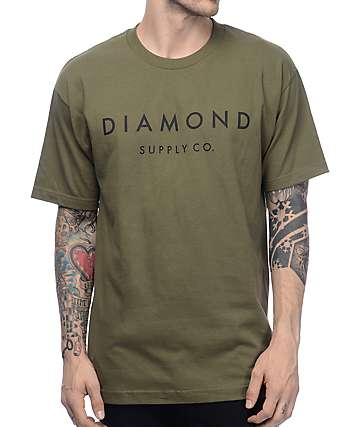 Diamond Supply Co Stone Cut camiseta verde