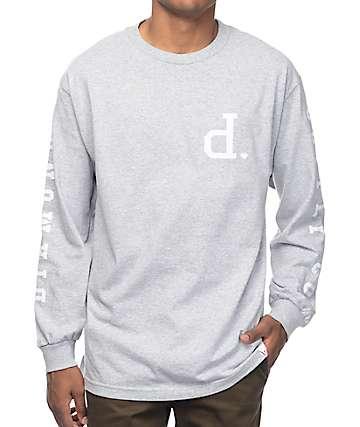 Diamond Supply Co Tonal Un-Polo camiseta de manga larga en gris