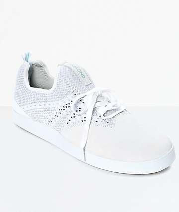 Diamond Supply Co. All Day zapatos de skate de ante en blanco
