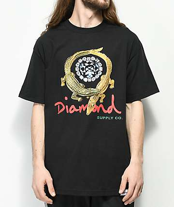 Diamond Supply Co. Alligator camiseta negra