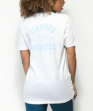 Diamond Supply Co. Athletic Logo camiseta blanca