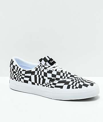 Diamond Supply Co. Avenue QS Black & White Skate Shoes