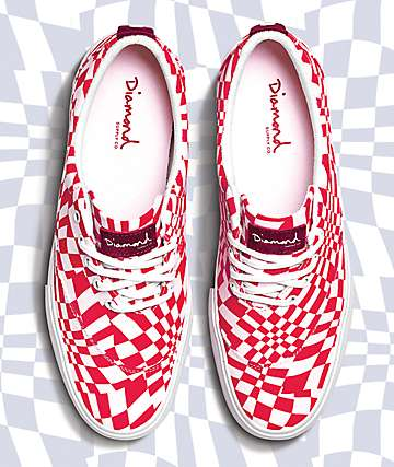 Diamond Supply Co. Avenue QS Red & White Shoes