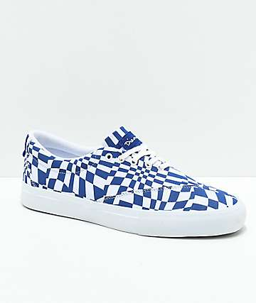 Diamond Supply Co. Avenue QS zapatos de skate en azul y blanco