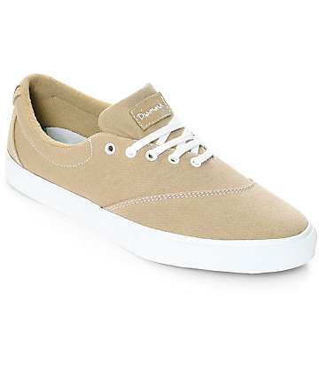 Diamond Supply Co. Avenue zapatos de skate de lienzo en blanco y marrón