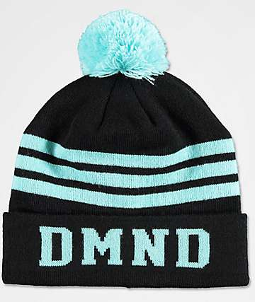Diamond Supply Co. Blue & Black Striped Pom Beanie