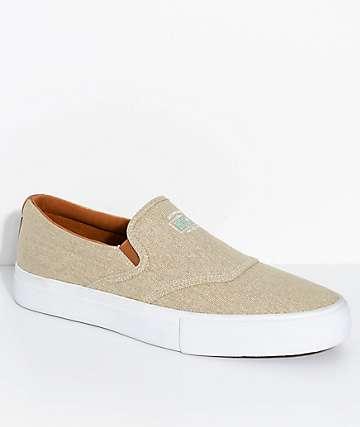 Diamond Supply Co. Boo-J Lite Washed zapatos de skate en blanco y marrón