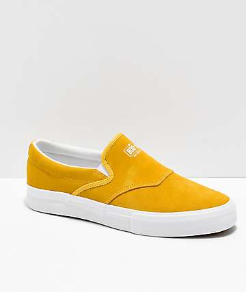 Diamond Supply Co. Boo-J Slip-On zapatos de skate de ante amarillo