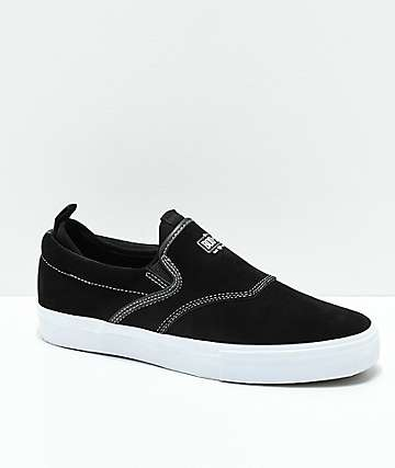Diamond Supply Co. Boo-J XL All Black & Suede Slip-On Skate Shoes