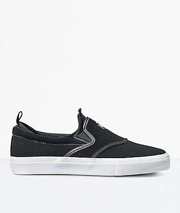 Diamond Supply Co. Boo-J XL Black Suede Skate Shoes