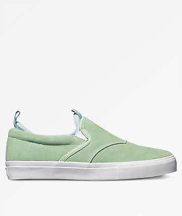 Diamond Supply Co. Boo J XL Green Suede Shoes