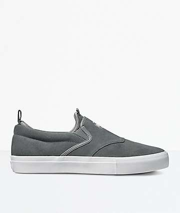 Diamond Supply Co. Boo-J XL Grey Suede Skate Shoes