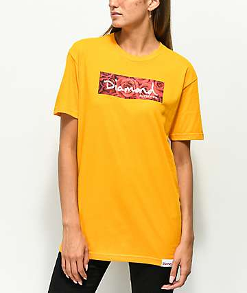 Diamond Supply Co. Bouquet Box Logo camiseta dorada