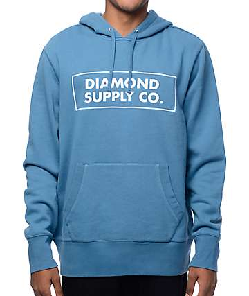 Diamond Supply Co. Boxed In Blue Hoodie