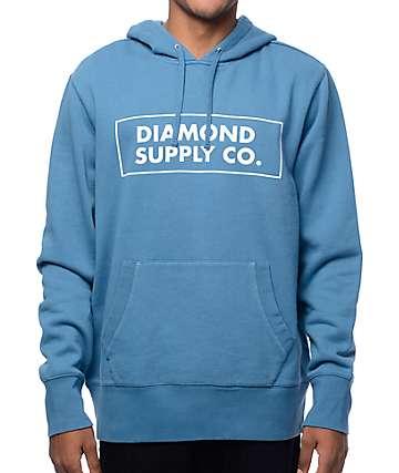 Diamond supply hoodies sweatshirts zumiez boxed in blue hoodie gumiabroncs Images