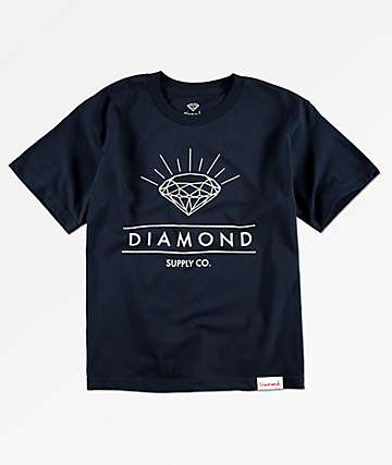 Diamond Supply Co. Boys Radiance Navy T-Shirt
