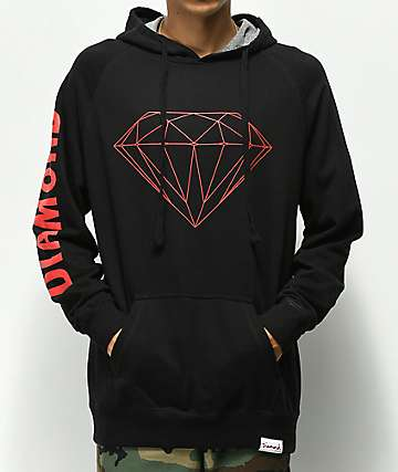Diamond Supply Co. Brilliant Black & Red Hoodie