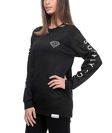 Diamond Supply Co. Brilliant Black Long Sleeve T-Shirt