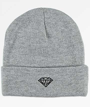 Diamond Supply Co. Brilliant Grey Cuff Beanie