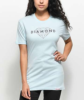 Diamond Supply Co. Brilliant Light Blue T-Shirt