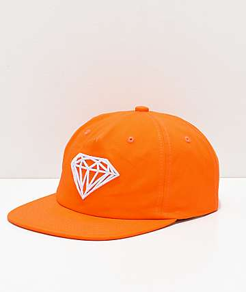 Diamond Supply Co. Brilliant Orange Snapback Hat