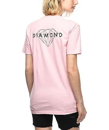 Diamond Supply Co. Brilliant Pink Boyfriend T-Shirt