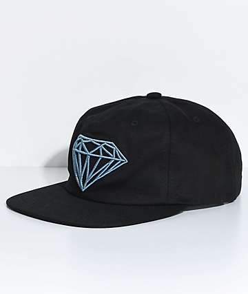 Diamond Supply Co. Brilliant Unstructured Black Snapback Hat