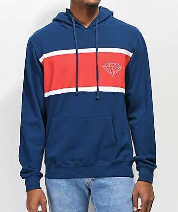 Diamond Supply Co. Brilliant sudadera con capucha azul y roja