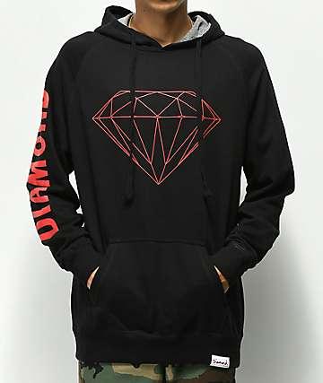 Diamond Supply Co. Brilliant sudadera con capucha roja y negra