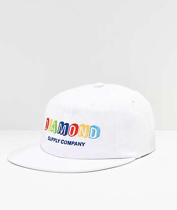 Diamond Supply Co. Building Blocks White Strapback Hat