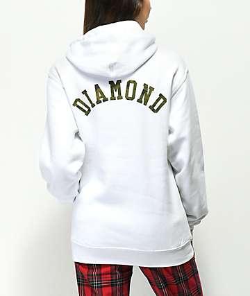 Diamond Supply Co. Camo Arch Logo sudadera con capucha blanca