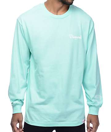 Diamond Supply Co. Champagne Mint Long Sleeve T-Shirt