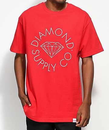 Diamond Supply Co. Circle Logo camiseta roja