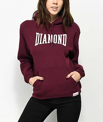 Diamond Supply Co. Crescendo Burgundy Hoodie