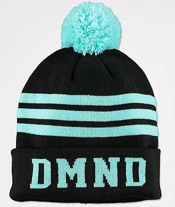 Diamond Supply Co. DMND Black & Blue Striped Pom Beanie