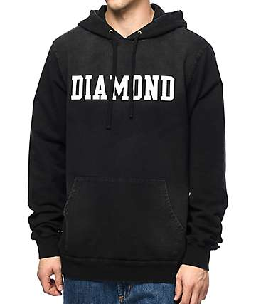Diamond Supply Co. Drexel Black Washed Hoodie