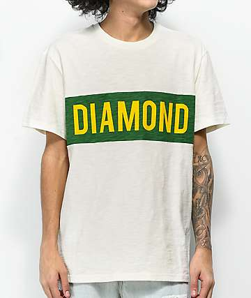 Diamond Supply Co. Elliot camiseta blanquecina