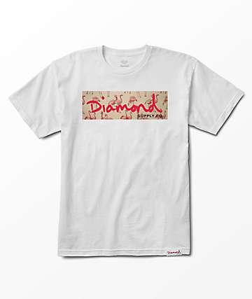 Diamond Supply Co. Flamingo Box Logo White T-Shirt