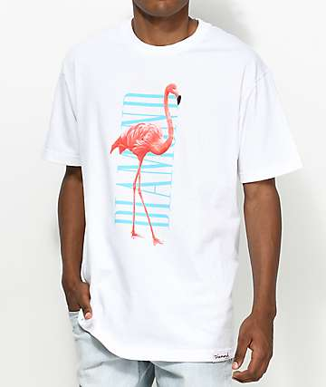 Diamond Supply Co. Flamingo camiseta blanca