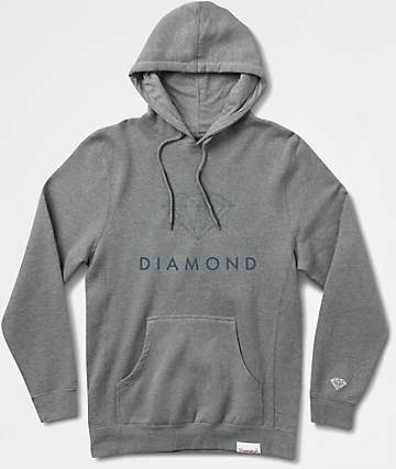 Diamond Supply Co. Futura Sign Grey Hoodie