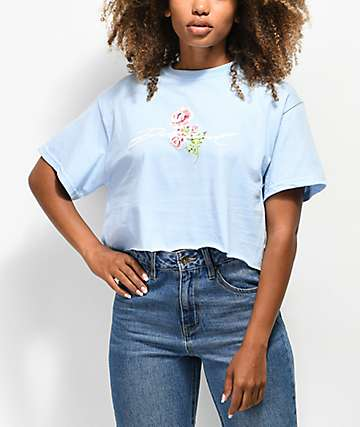 42a465eb3ce Diamond Supply Co. Garden Baby Blue Crop T-Shirt