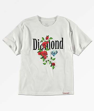Diamond Supply Co. Garden camiseta blanca para niños