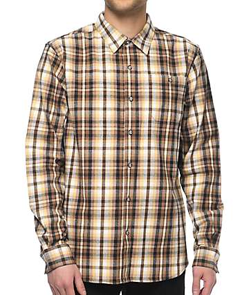 Diamond Supply Co. Holiday Brown Flannel Shirt
