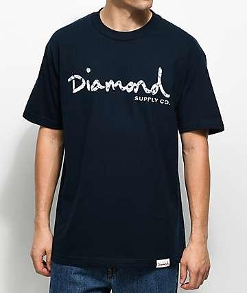 Diamond Supply Co. Infinite OG Script camiseta azul marino