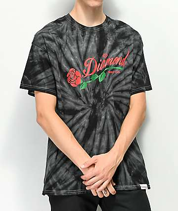 Diamond Supply Co. La Rosa Black Tie Dye T-Shirt