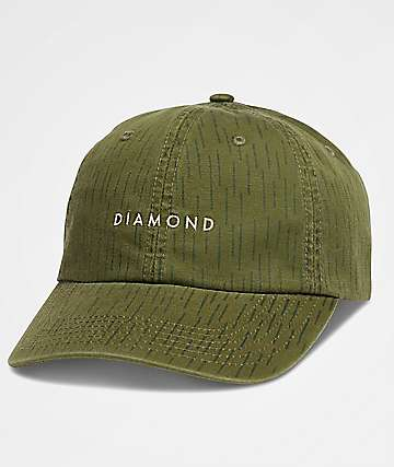 Diamond Supply Co. Leeway Green Camo Baseball Hat
